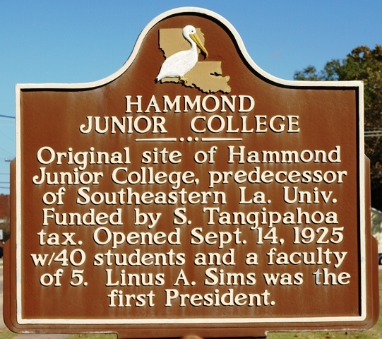 Hammond Junior College Marker