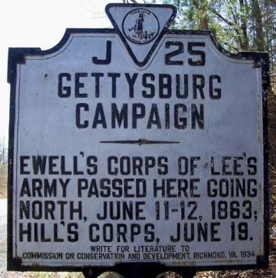 Gettysburg Campaign Marker J-25 image. Click for full size.