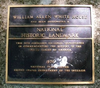 William Allen White House NHL Marker image. Click for full size.