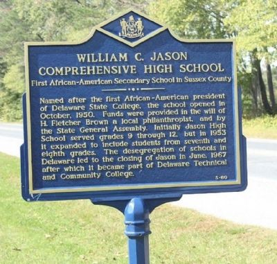 William C. Jason Comprehensive High School Marker image. Click for full size.