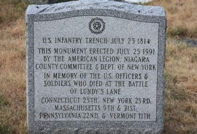 U.S. Infantry Trench Marker image. Click for full size.