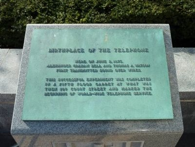 Birthplace of the Telephone Marker image. Click for full size.