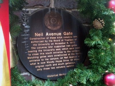 Neil Avenue Gate Marker image. Click for full size.