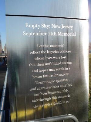 Empty Sky: New Jersey Right Marker image. Click for full size.