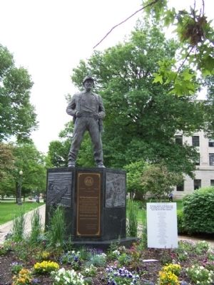 """The West Virginia Coal Miner"" Memorial image, Touch for more information"