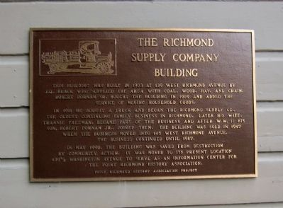 The Richmond Supply Company Building Marker image. Click for full size.
