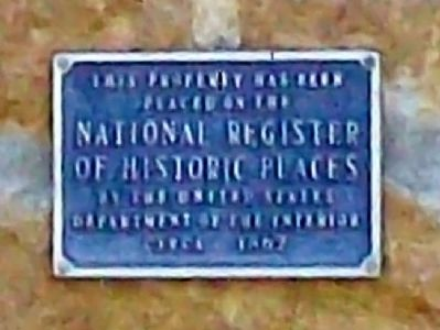 Richard Howe House NRHP Marker image. Click for full size.