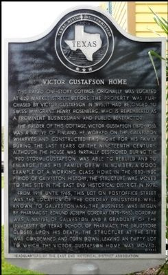 Victor Gustafson Home Marker image. Click for full size.