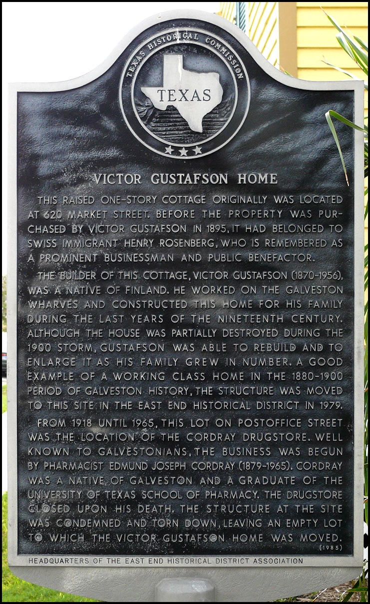 Victor Gustafson Home Marker