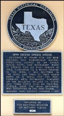 1894 Grand Opera House Marker image. Click for full size.