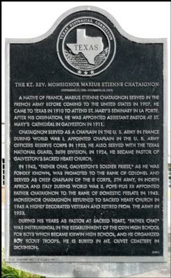 The Rt. Rev. Monsignor Marius Etienne Chataignon Marker image. Click for full size.
