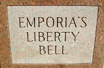 Emporia's Liberty Bell Monument image. Click for full size.