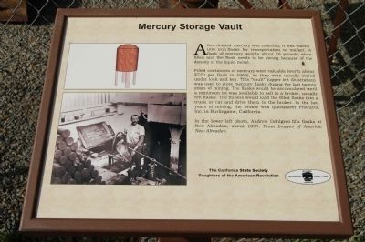 Mercury Storage Vault Marker image. Click for full size.