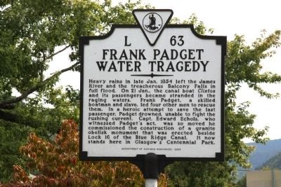 Frank Padget Water Tragedy Marker image. Click for full size.