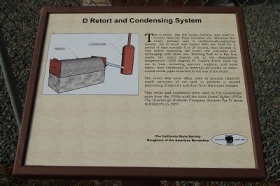 D Retort and Condensing System Marker image. Click for full size.