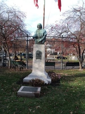 Federici Park Marker & Columbus Statue image. Click for full size.