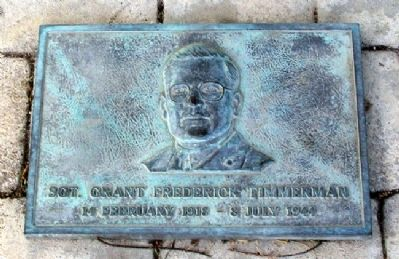 Grant Frederick Timmerman Marker image. Click for full size.