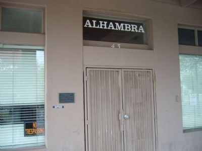 The Alhambra Hotel Marker image. Click for full size.