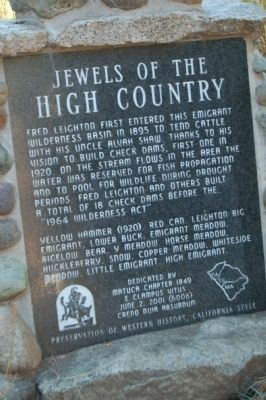Jewels of the High Country Marker image. Click for full size.