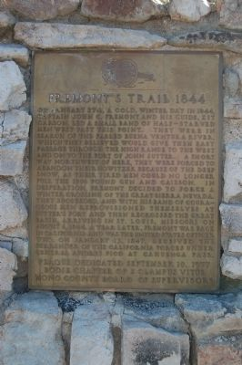 Fremont's Trail 1844 Marker image. Click for full size.