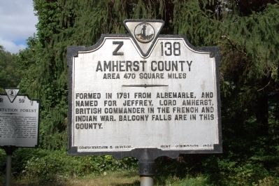 Amherst County Face of Marker image. Click for full size.