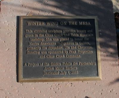 Winter Wind on the Mesa Marker image. Click for full size.