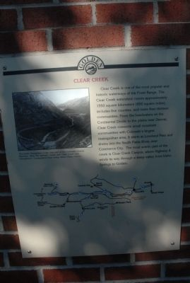 Clear Creek Marker image. Click for full size.