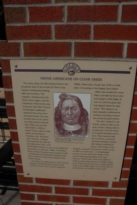 Native Americans on Clear Creek Marker image. Click for full size.