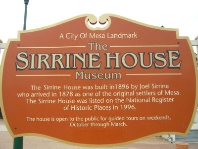 Sirrine House sign image. Click for full size.