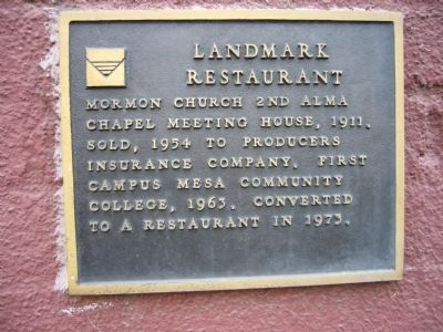 Landmark Restaurant Marker image. Click for full size.