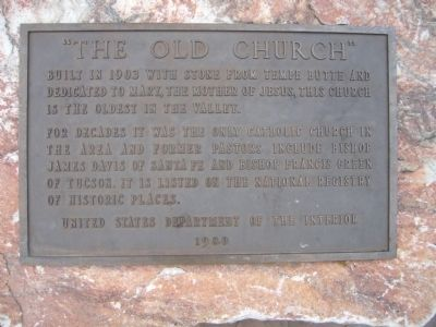 """The Old Church"" Marker image. Click for full size."