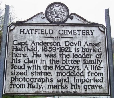 Hatfield Cemetery Marker image. Click for full size.