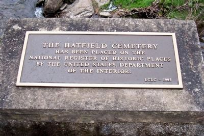 Hatfield Cemetery Designated National Registered Historic Place image. Click for full size.