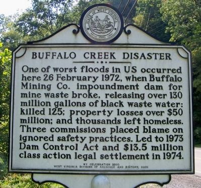 Buffalo Creek Disaster Marker image. Click for full size.