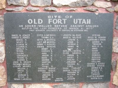 Site of Old Fort Utah Marker image. Click for full size.