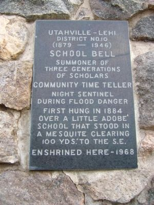 Utahville – Lehi School Bell image. Click for full size.