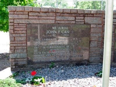 John F. Cance Memorial image. Click for full size.