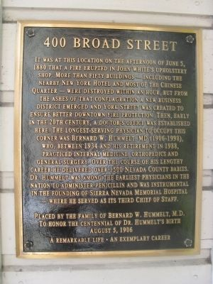 400 Broad Street Marker image. Click for full size.
