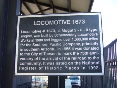 Locomotive 1673 Marker image. Click for full size.