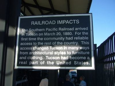 Railroad Impacts Marker image. Click for full size.