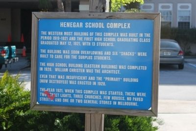 Henegar School Complex Marker image. Click for full size.