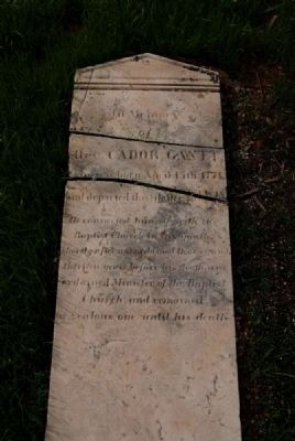 Rev. Cador Gantt Tombstone image. Click for full size.