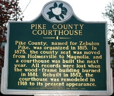Pike County Courthouse Marker image. Click for full size.