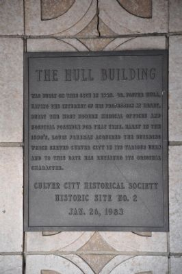 The Hull Building Marker image. Click for full size.