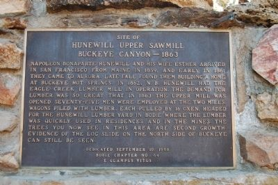 Hunewill Upper Sawmill Marker image. Click for full size.