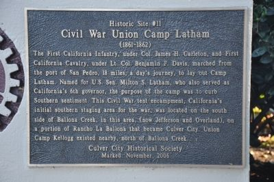 Camp Latham Marker image. Click for full size.