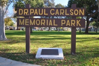 Dr. Paul Carlson Memorial Park image. Click for full size.