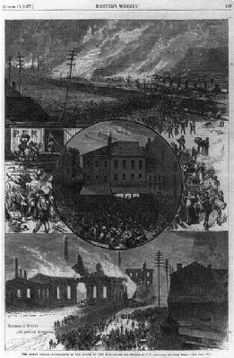 The Great [railroad] Strike [Pittsburgh, Pa. 1877]: image. Click for full size.