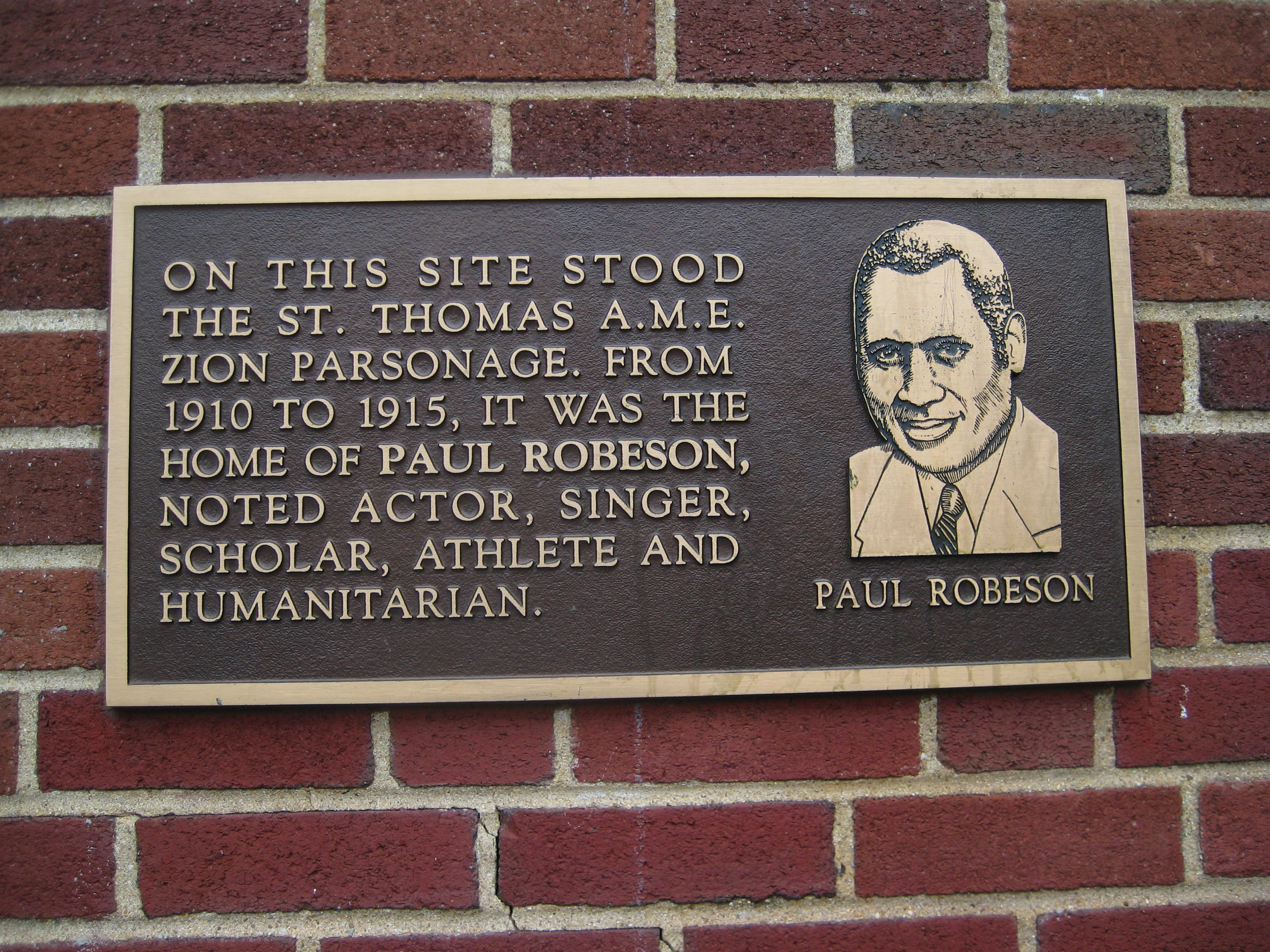 Site of St. Thomas A.M.E. Zion Parsonage Marker