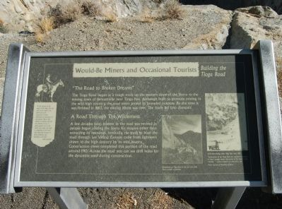 Would-Be Miners and Occasional Tourists Marker image. Click for full size.